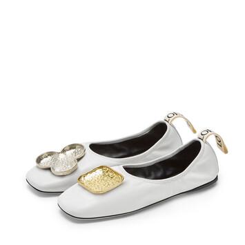 LOEWE Shamrock Ballerina White front