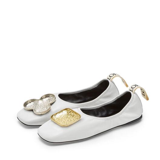 LOEWE Shamrock Ballerina ホワイト all