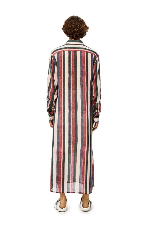 LOEWE Long Stripe Tunic Pink/Strawberry/Blue front