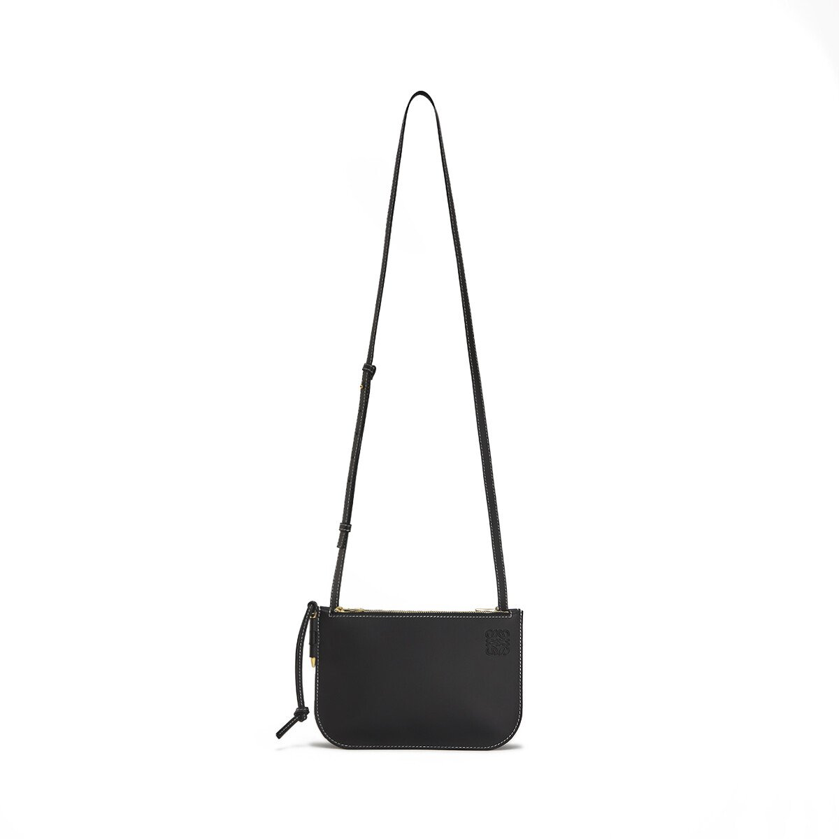 LOEWE Gate Double Zip Pouch ブラック front