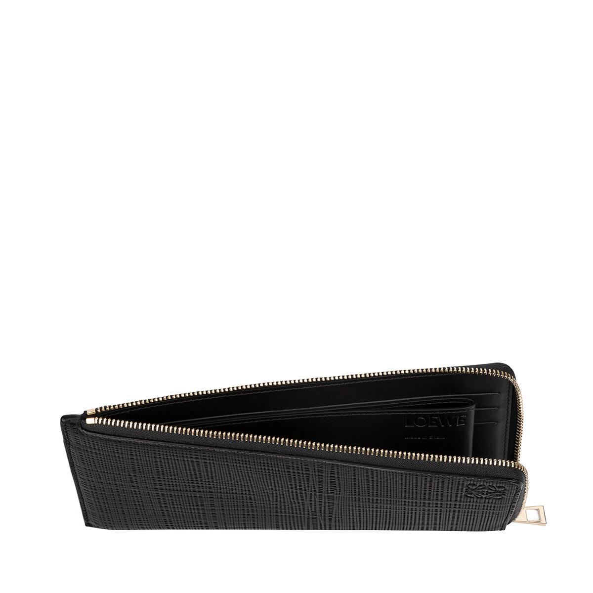 LOEWE Flat Zip Around Black front