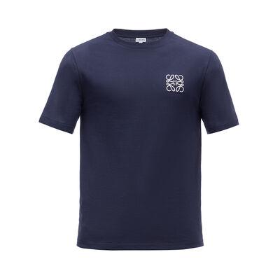 LOEWE Anagram T-Shirt Navy Blue front