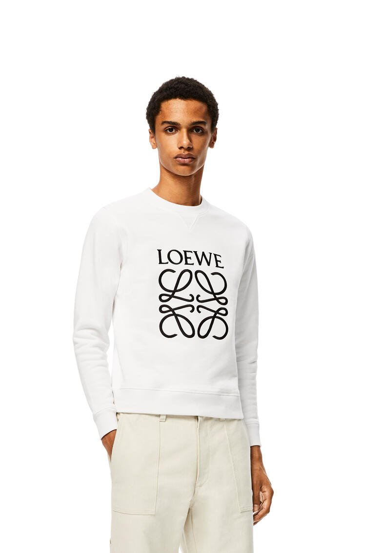 LOEWE Anagram embroidered sweatshirt in cotton White pdp_rd