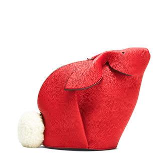 LOEWE Bunny Mini Bag 猩红色 front