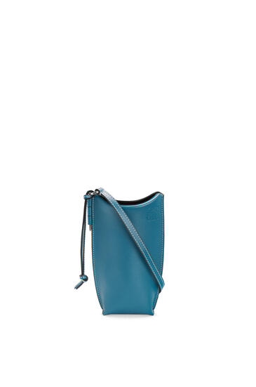 LOEWE Gate Pocket In Soft Calfskin Dark Lagoon pdp_rd