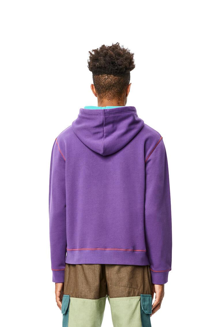 LOEWE Hoodie in cotton Purple pdp_rd