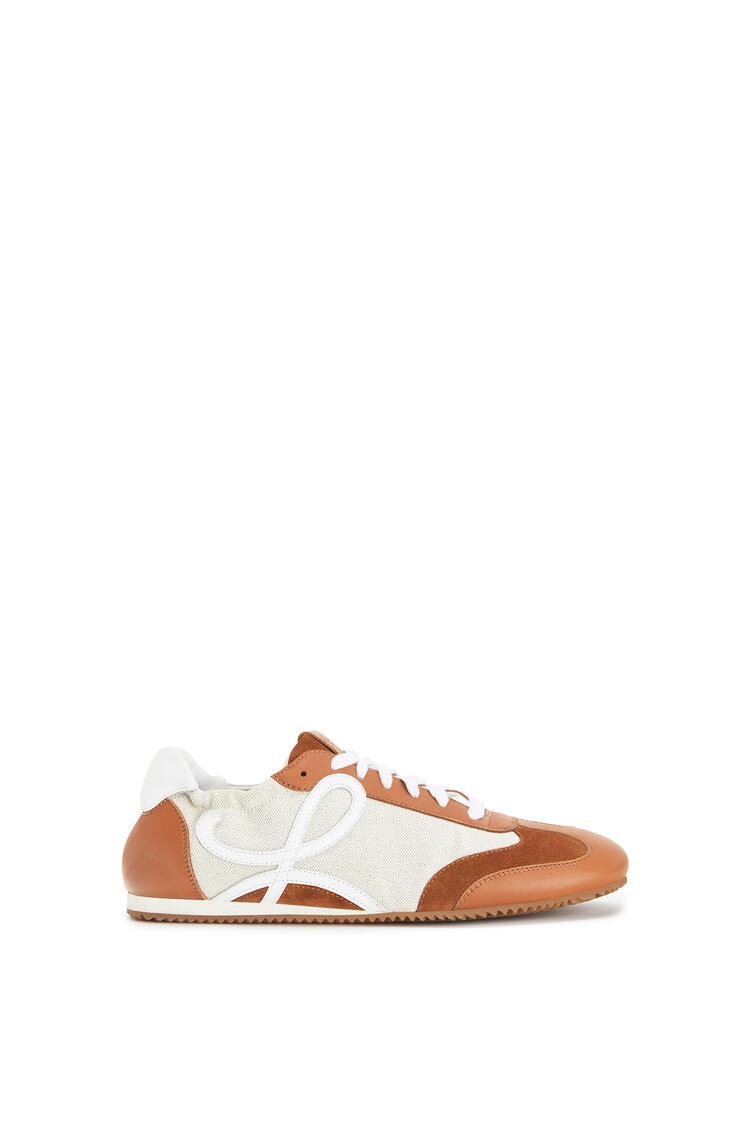 LOEWE Ballet runner in classic calfskin and linen Sand/Caramel pdp_rd