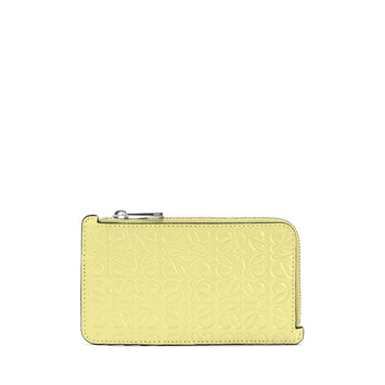LOEWE Coin Cardholder イエロー front