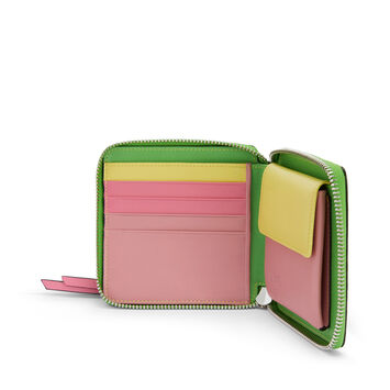 LOEWE Rainbow Square Zip Wallet Tan/Multicolor front