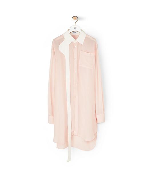 LOEWE Strap Oversized Shirt Rosa front