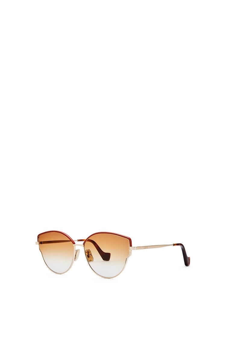 LOEWE Gafas de sol mariposa metálicas Marron Degradado/Oro Rosa pdp_rd