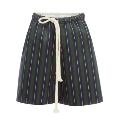 LOEWE Stripe Shorts Navy Blue/Green front