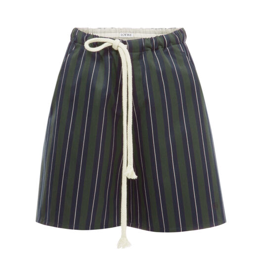 LOEWE Moon College Stripes Short Marino/Verde all