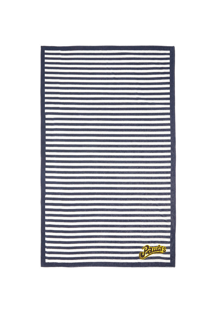 LOEWE 105X170 PAULA STRIPE TOWEL Blanco/Marino pdp_rd