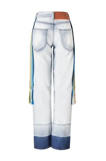 LOEWE 5 Pkt Jeans Knit Stripe Bands Light Blue front