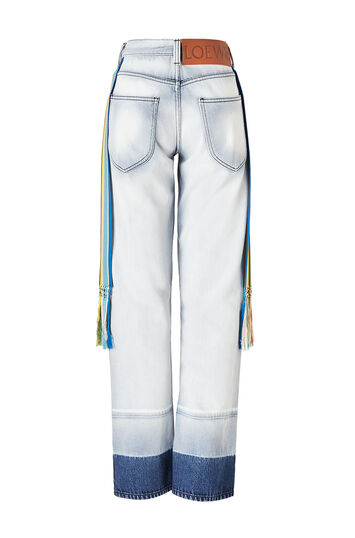 LOEWE 5 Pocket Jeans Tassels Azul Claro front