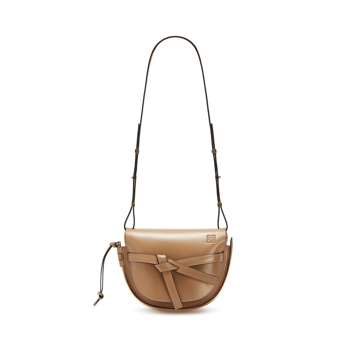 LOEWE Gate Frame Small Bag Mink Color front
