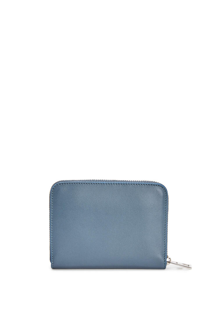 LOEWE 6 card zip wallet in smooth calfskin Steel Blue pdp_rd
