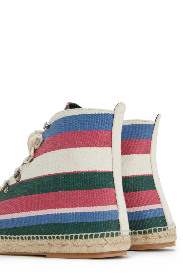 LOEWE レースアップ ブーツ エスパドリーユ(キャンバス) Pink/Green/Light Blue pdp_rd