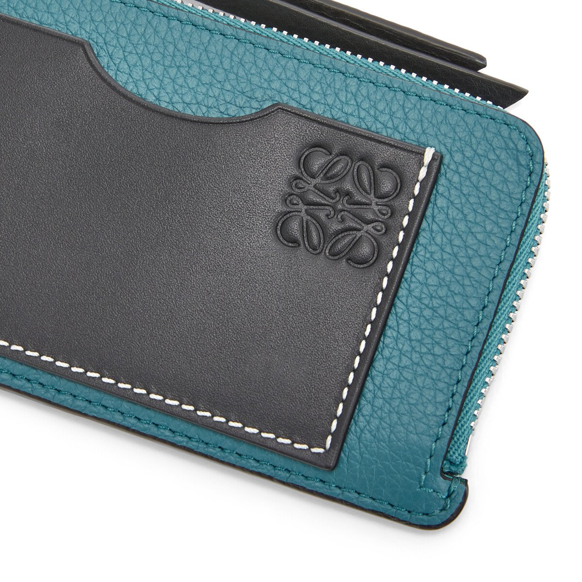 LOEWE Coin Cardholder Large Azul Laguna Oscuro front