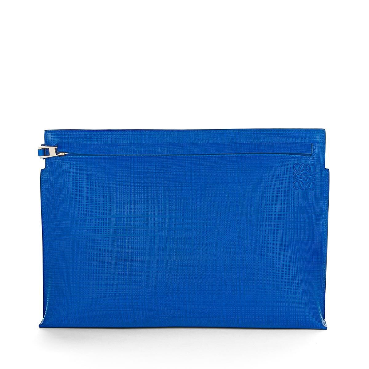 medium T-pouch clutch - Blue Loewe mDvKf66