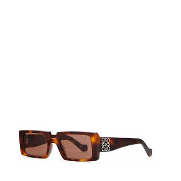 LOEWE Anagram Rectangular Sunglasses Havana/Brown front