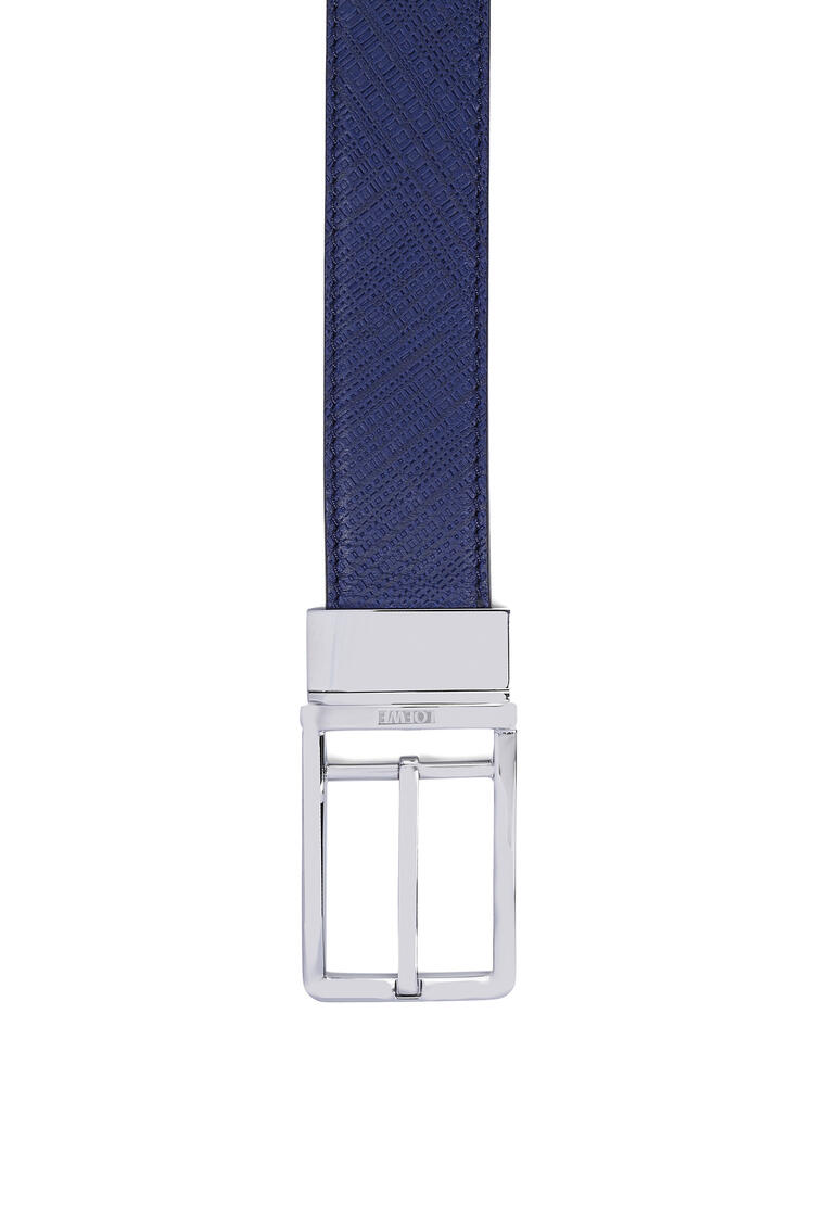 LOEWE Formal belt in calfskin Navy Blue/Black/Palladium pdp_rd
