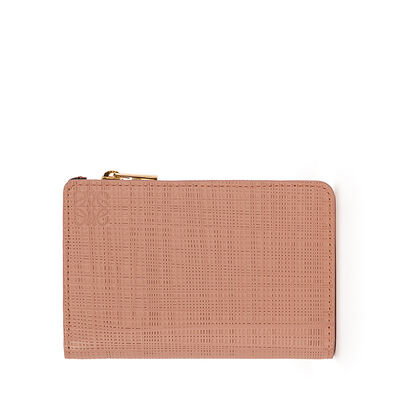 LOEWE Small Zip Wallet Blush front