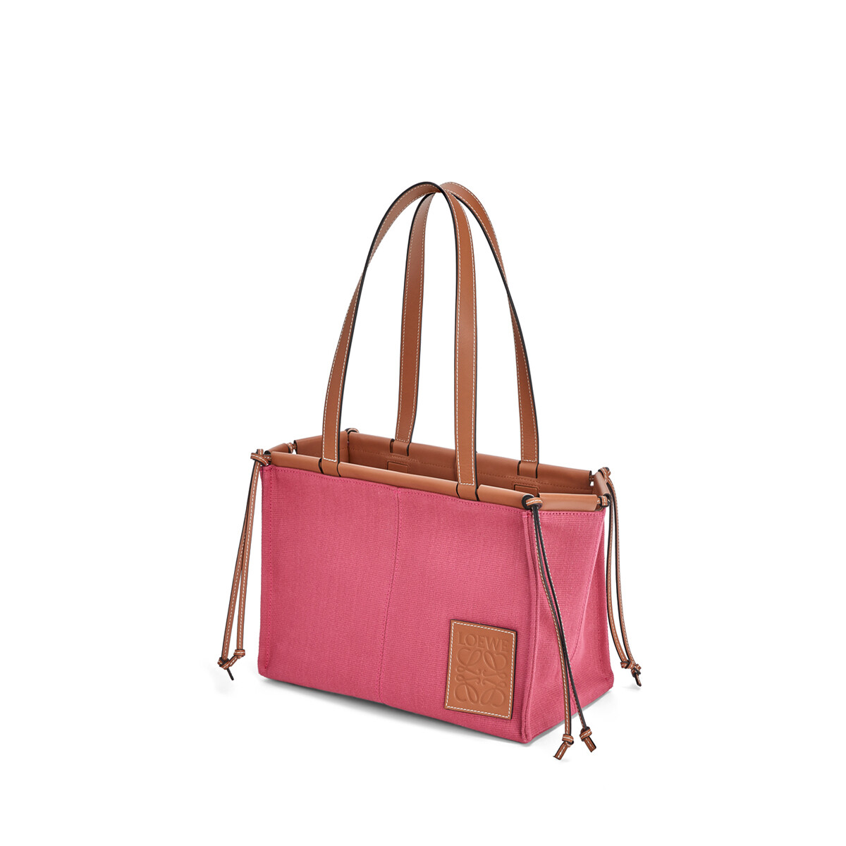 LOEWE Cushion Tote Small Bag 覆盆子 front