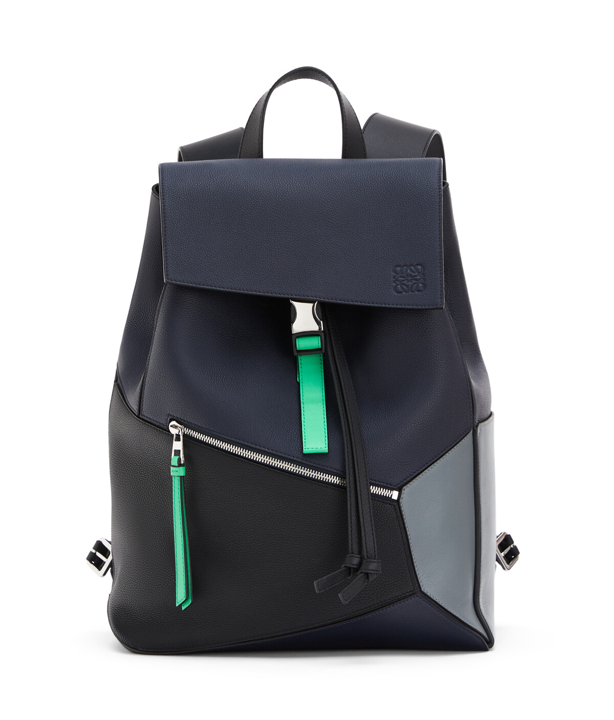 LOEWE Puzzle Backpack Deep Blue/Green front