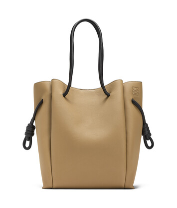 LOEWE Bolso Flamenco Knot Tote Mocca/Negro front