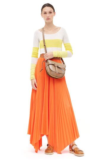 LOEWE Pleated Skirt Naranja front