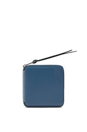 LOEWE Rainbow Square Zip Wallet In Soft Calfskin Blue/Multicolor pdp_rd