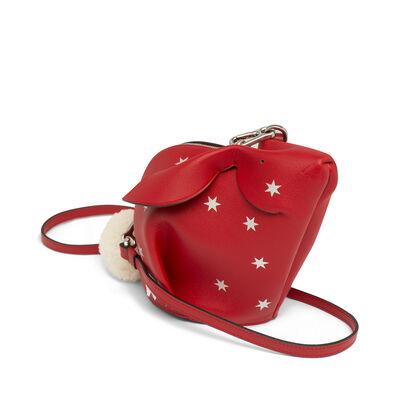 LOEWE Mini Bolso Conejo Estrellas Rojo Escarlata/Plata front