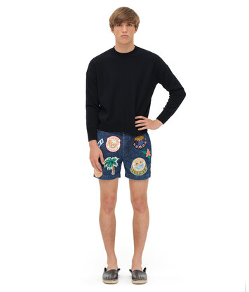 LOEWE Cropped Sweater Negro front