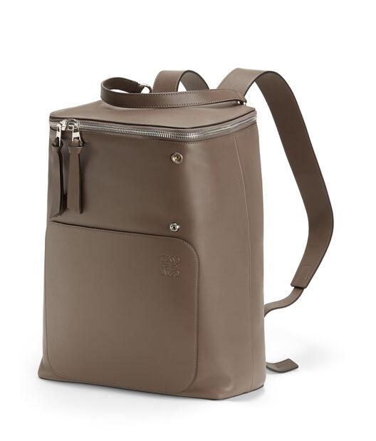 LOEWE Goya Backpack Dark Taupe front