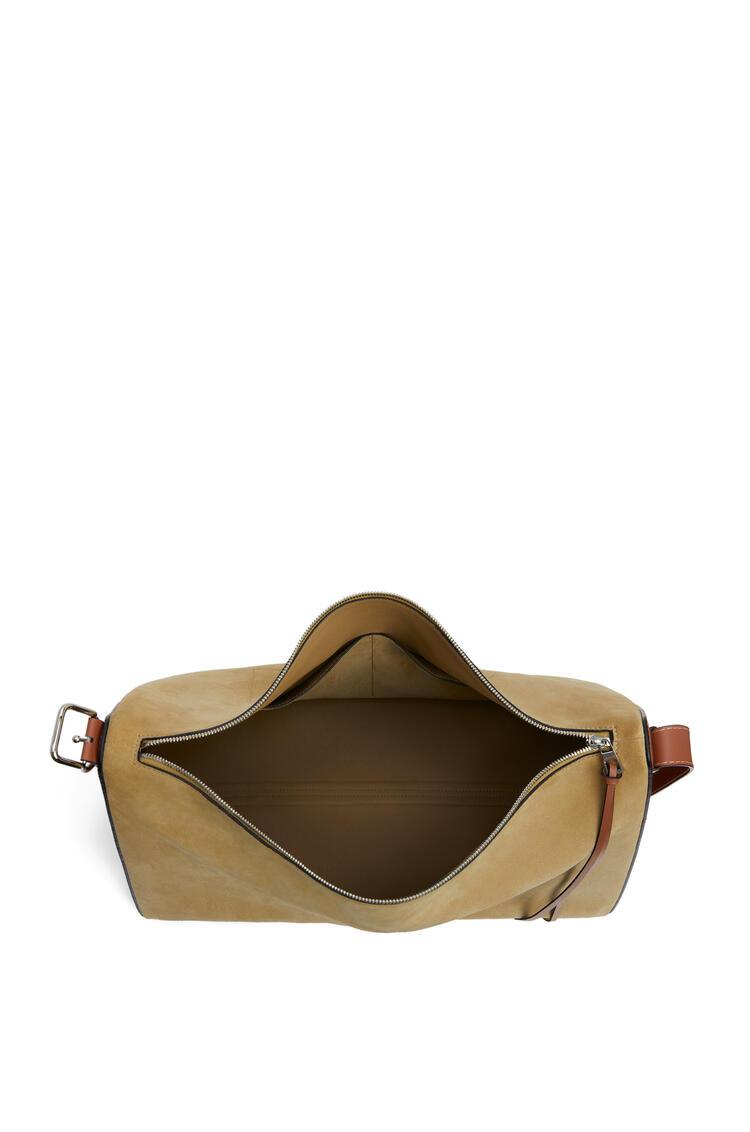 LOEWE Large Berlingo bag in suede and calfskin Gold pdp_rd