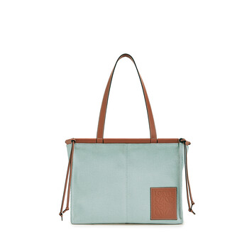 LOEWE Cushion Tote Small Bag Aqua front