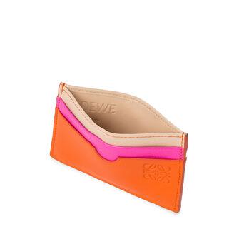LOEWE Tarjetero Plano Naranja/Multicolor front