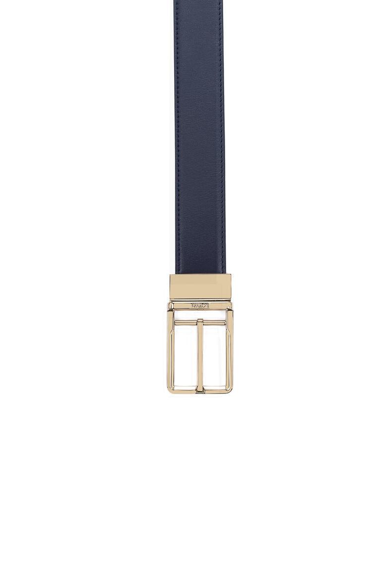LOEWE フォーマル ベルト 3.2CM ADJ/REV navy blue/black/gold pdp_rd