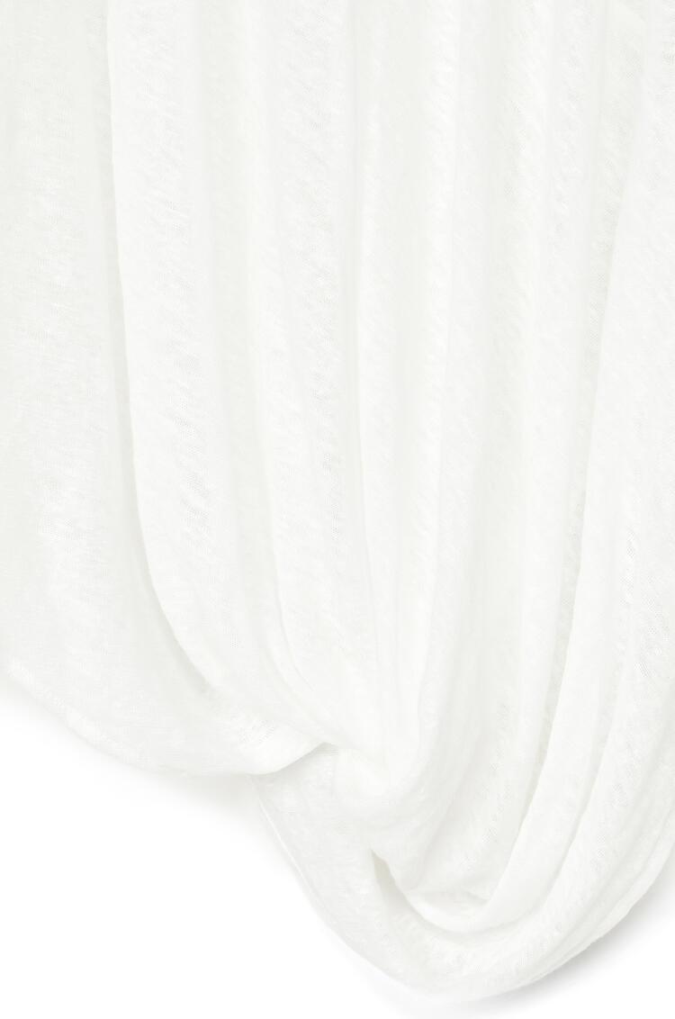 LOEWE アシンメトリー Tシャツ(リネン) ホワイト pdp_rd