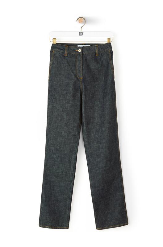 LOEWE Denim Trousers Indigo front