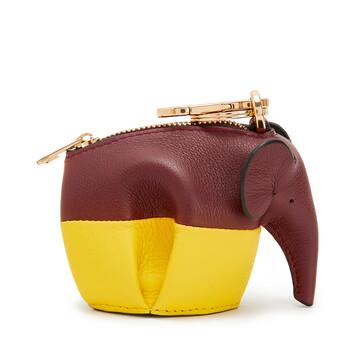 LOEWE Charm Elefante Vino/Amarillo front