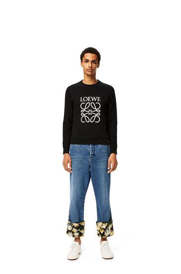 LOEWE Anagram Embroidered Sweatshirt In Cotton Black pdp_rd