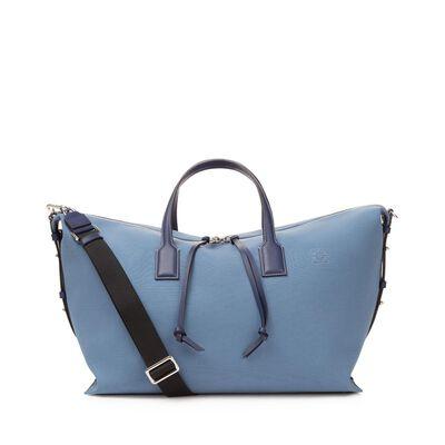 LOEWE Weekender With Strap Bag Blue/Navy front