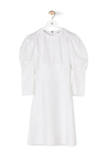 LOEWE Balloon Sleeve Dress White front