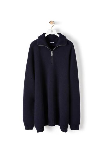 LOEWE Oversize Zip Sweater Marino front
