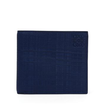 LOEWE Linen Bifold Wallet 海軍藍 front