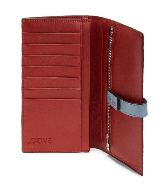 LOEWE Large Vertical Wallet Powder/Stone Blue front