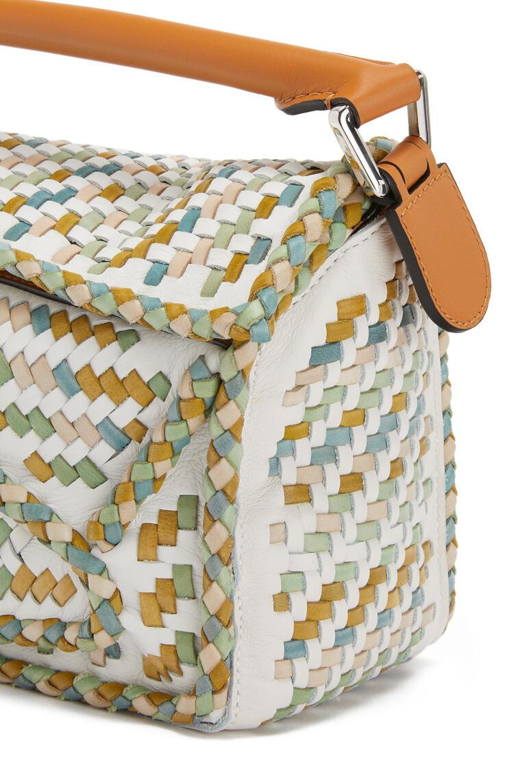 LOEWE Bolso Puzzle pequeño en piel de ternera y de búfalo Miel/Multicolor pdp_rd